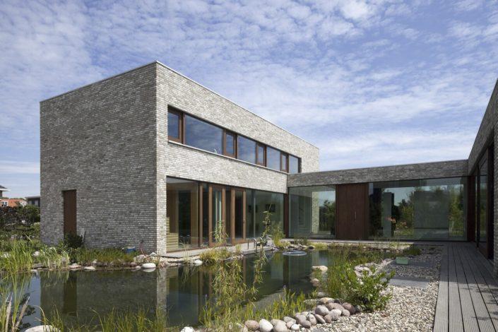 Grey brick house