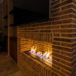 Brick Effect Tile Fire Surround