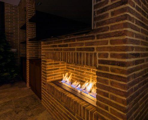 Brick Effect Tile Fire Surround